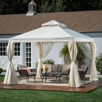 Arizona Outdoor 10' by 10' Water Resistant Fabric and Steel Gazebo by Christopher Knight Home