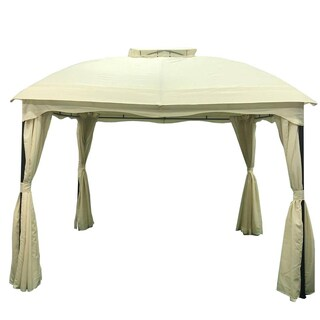 Gravina Outdoor 12' by 10' Water Resistant Fabric and Steel Gazebo by Christopher Knight Home