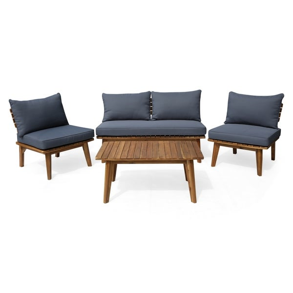 Shop Balmoral Outdoor 4 Seater Acacia Wood Chat Set by Christopher ...