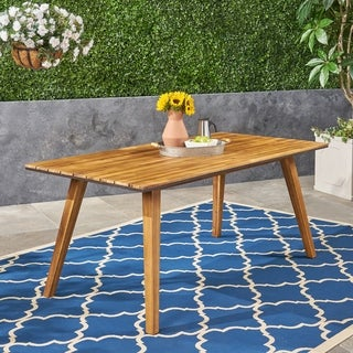 """Downey Outdoor 71"""" Acacia Wood Dining Table by Christopher Knight Home"""
