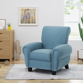 Del Monte Traditional Upholstered Pushback Recliner by Christopher Knight Home