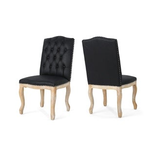 Delavan Traditional Upholstered Dining Chairs(Set of 2) by Christopher Knight Home