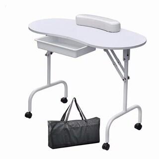 Home Use Foldable Mini Assembling Desk for Nail Manicure White