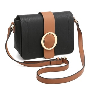 Link to Dasein Round Buckle Detailed Front Flap Cross Body Bag Similar Items in Shop By Style