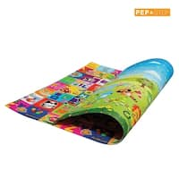 Play Mat For Babies, Toddlers and Kids by PEP STEP Large Baby Mat 70 x 78 inch Non-Toxic Child Friendly Cushioning Technology