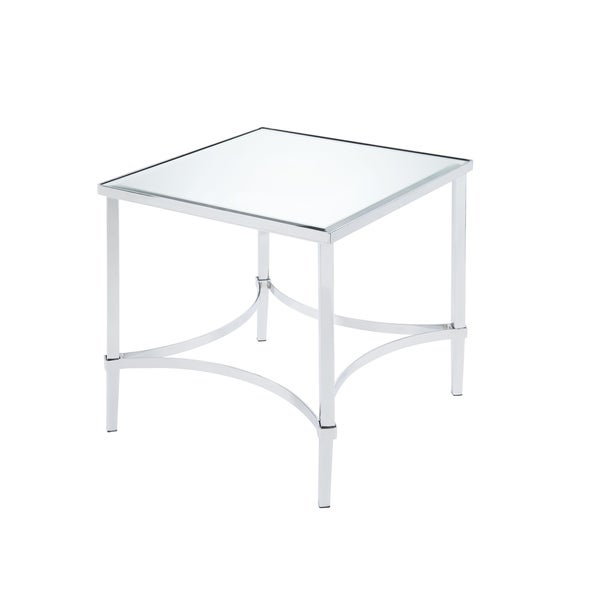ACME Petunia End Table in Chrome and Mirrored
