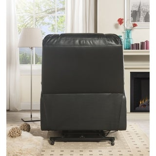 ACME Ixora Power Lift Massage Recliner in Black Leatherette