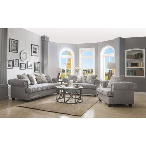 ACME Gardenia Chair in Gray Fabric