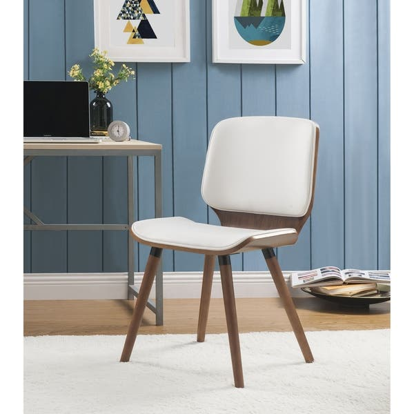 Fantastic Shop Acme Nemesia Accent Chair In White Leatherette And Theyellowbook Wood Chair Design Ideas Theyellowbookinfo