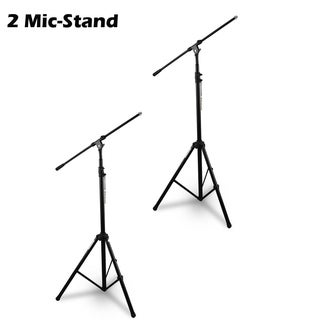 Pack of 2 - Pyle Heavy Duty Microphone Stand Height Adjustable from 51.2 to 78.75 Inch with Extendable Arm 29.5 Inch