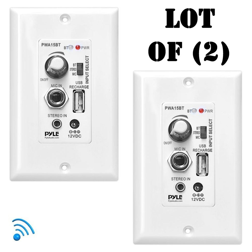 USB Charging Port New Wall Plate Amplifier Sound Control W//Aux /& Microphone In
