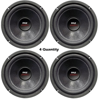 Lot of 4 - PYLE PLPW6D 6-Inch 2400W Car Audio Subwoofers Subs Woofers DVC Stereo 4-Ohm