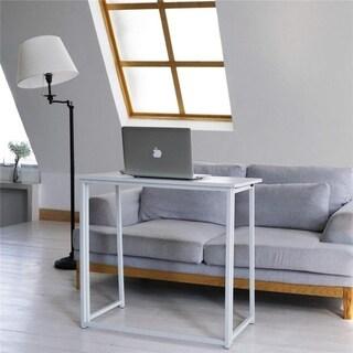 Portable Folding Furniture Study PC Writing Table Computer Desk White