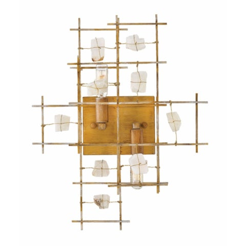 Fredrick Ramond Petra 2-Light Sconce in Luster Gold