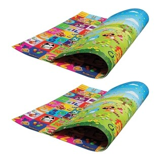 Pack of 2 - Play Mat For Babies, Toddlers and Kids by PEP STEP Large Mat 70 x 78 Inch Non-Toxic Child-Friendly Technology