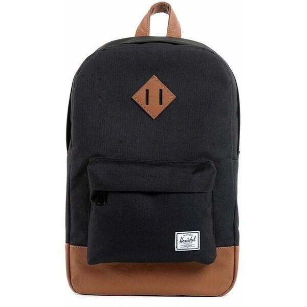 Shop Herschel Heritage Mid-Volume Backpack Black Tan - Free Shipping ... 615608ecee1c6