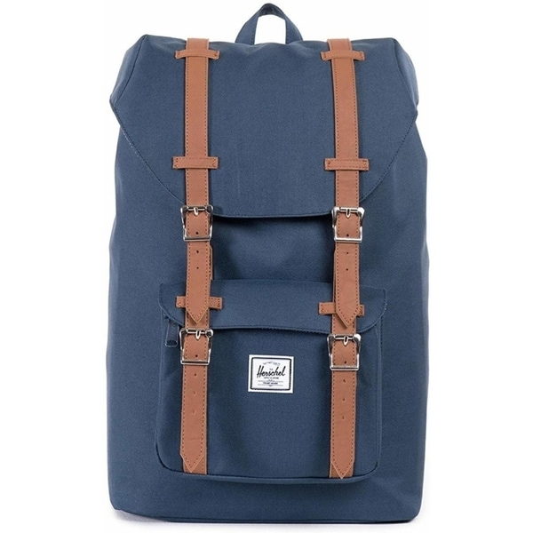 2967fea8b82 Shop Herschel Little America Mid-Volume Backpack Navy Tan - Free Shipping  Today - Overstock - 22633919