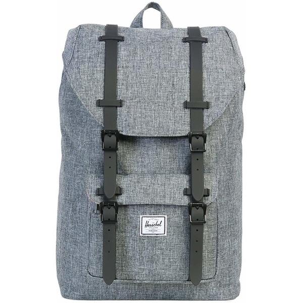 Shop Herschel Little America Mid-Volume Backpack Raven Crosshatch - Free  Shipping Today - Overstock.com - 22633920 d02389ddc0