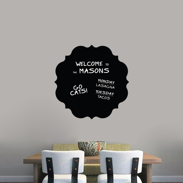 shop chalkboard badge wall decals wall stickers - on sale - ships to