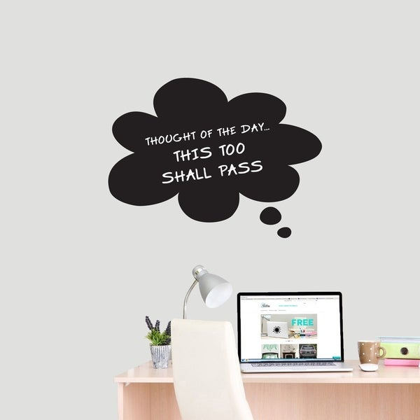 shop chalkboard thought bubble wall decals wall stickers - on sale