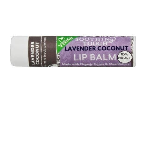 Soothing Touch 0.25-ounce Vegan Lip Balm Lavender Coconut