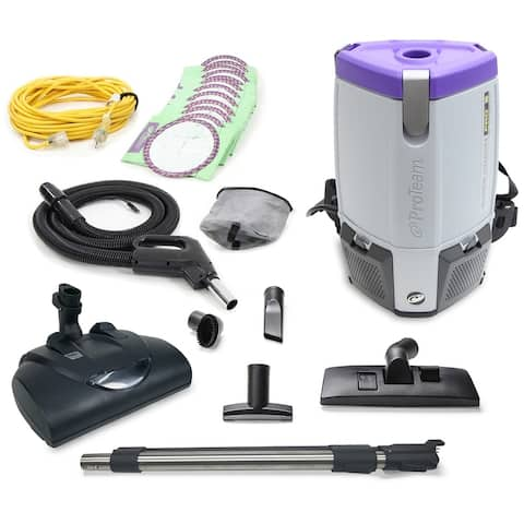 Proteam Super CoachPro 6 Commercial Backpack Vacuum w/ Wessel Werk Head