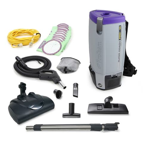 Proteam Super CoachPro 10 Commercial Backpack Vacuum w/ Wessel Werk Head