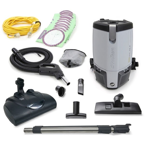 Proteam ProVac FS6 Commercial Backpack Vacuum w/ Wessel Werk Head