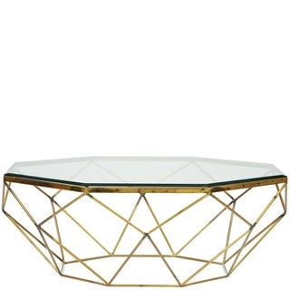Lucentio Goldtone Metal Octagon Cocktail Table Base