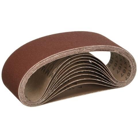 ALEKO Aluminum Oxide Sanding Belt 4-Inch x 24-Inch 220 Grit 10-Pack