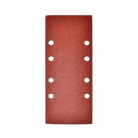 ALEKO 100 Grit Sandpaper Sheets with Holes 3.7 x 9 Inches 5 Pieces
