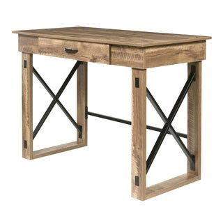 OneSpace Martin Oak Finish Standing Desk with Drawer
