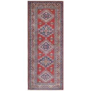 Herat Oriental Afghan Hand-knotted Kazak Vegetable Dye Wool Runner (2'2 x 5'9)