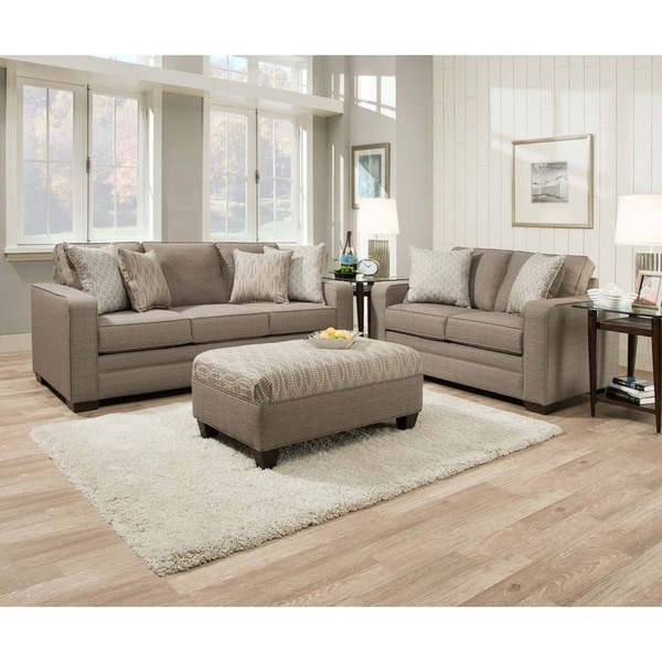 Shop Simmons Upholstery Seguin Pewter Sofa Free Shipping