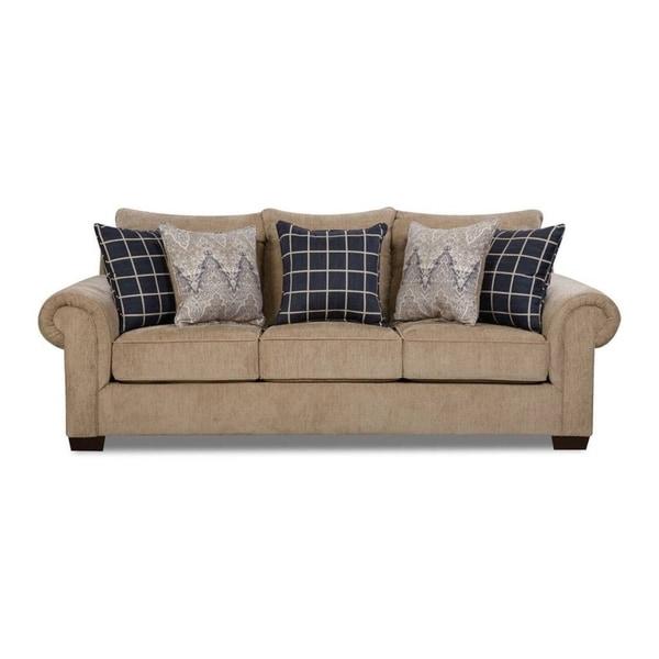 Shop Simmons Upholstery Gavin Mushroom Queen Sleeper