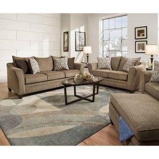 Simmons Upholstery Albany Truffle Queen Sleeper Sofa