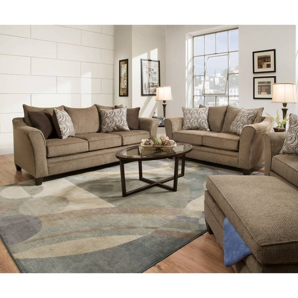 Shop Simmons Upholstery Albany Truffle Queen Sleeper Sofa