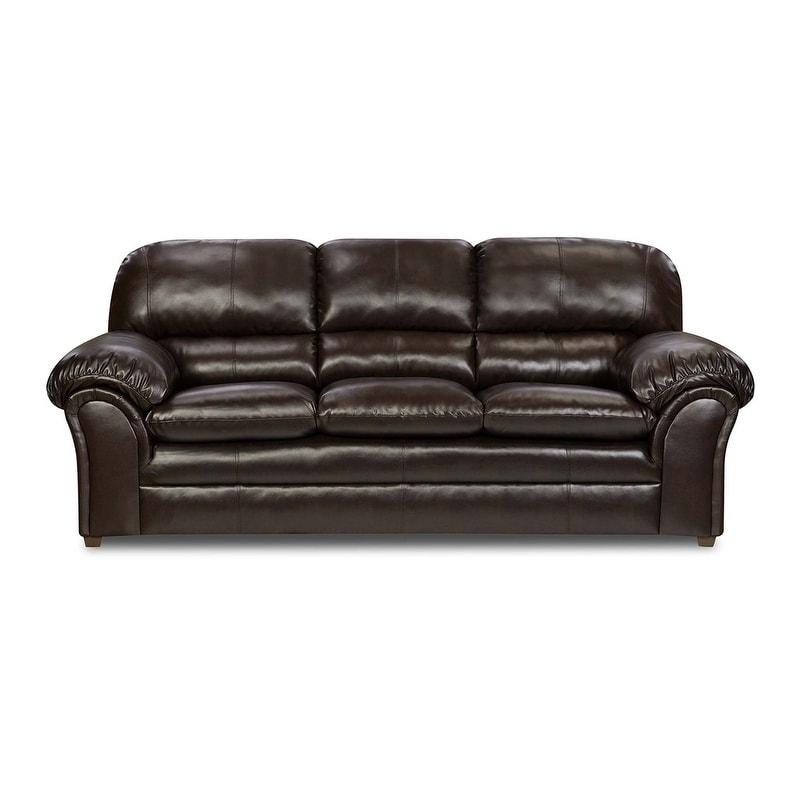 Fabulous Simmons Upholstery Vintage Riverside Bonded Leather Sofa Frankydiablos Diy Chair Ideas Frankydiabloscom