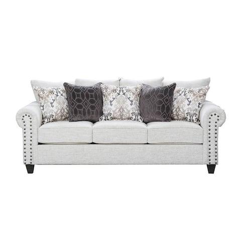 Simmons Upholstery Della Linen Queen Sleeper