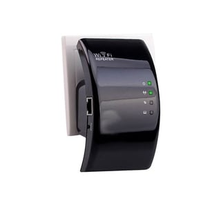 F.S.D Wifi Genius Repeater Instantly Double Your Wifi Range - black