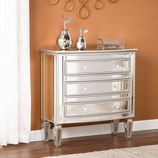 Tilton 3-Drawer Mirrored Storage Chest - Glam Style - Silver