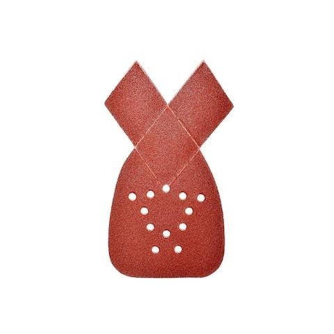 ALEKO Mouse Sandpaper 120 Grit Sheets With 12 Holes 10 Pieces