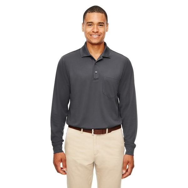 Ash City - Core 365 mens Pinnacle Performance Piqué Long-Sleeve Polo with Pocket (88192P)