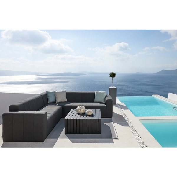 Shop JTW USA Black Aluminum Outdoor Coffee Table Set Of Free - Black aluminum outdoor coffee table