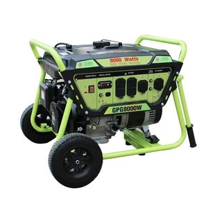 Green Power 8000-Watt Gas Powered Portable Generator, LCT Engine