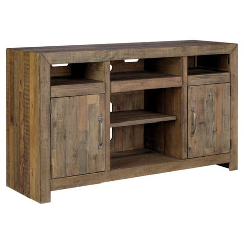 Sommerford Casual Large TV Stand w/Fireplace Option Brown