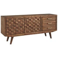 Signature Design by Ashley Chiladda Warm Brown Wood Finish XL TV Stand