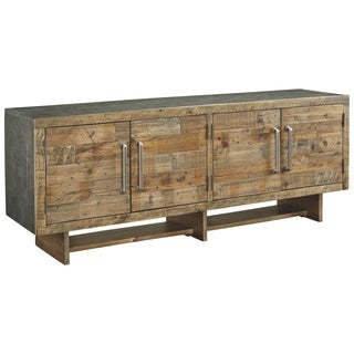 Signature Design by Ashley Mozanburg XL Rustic Brown TV Stand