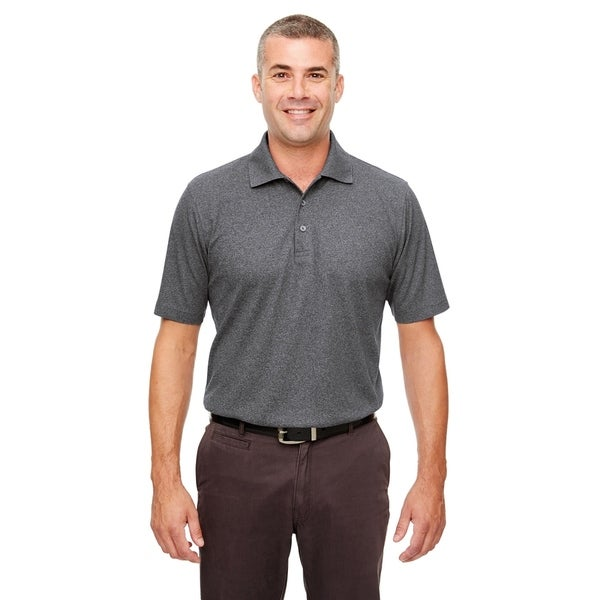 UltraClub mens UltraClub Mens Heathered Pique Polo - CHARCOAL HEATHER - M (UC100)