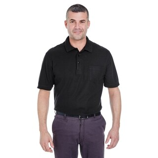 UltraClub mens Whisper Pique Polo with Pocket (8544)